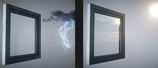veka spectral rezitente la schimbul de temperaturi , radiatie, si ploi torentiale